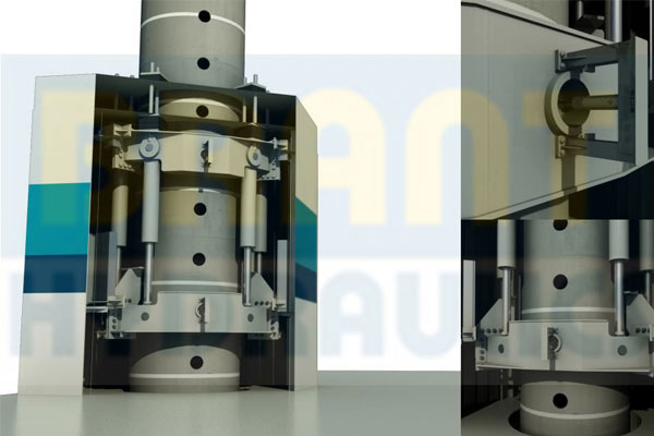 Hydraulic offshore Continuous jacking